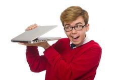 Estudiante que usa la computadora portátil Fotografía de archivo libre de regalías