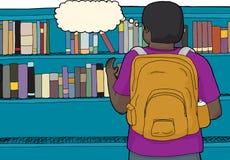 Estudiante Reaching For Book Fotografía de archivo