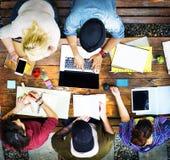Estudiante Relationship Team Concept de la conexión de los colegas Imágenes de archivo libres de regalías