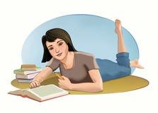 Estudiante Relaxing ilustración del vector