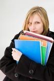 Estudiante rubio lindo. Fotos de archivo libres de regalías