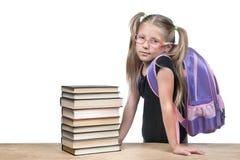 Estudiante serio con una mochila Fotografía de archivo