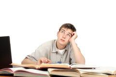 Estudiante soñador de la mirada Imagen de archivo