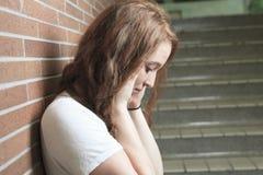 Estudiante solo triste Imagenes de archivo