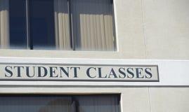 Estudiante Study y centro de la clase imágenes de archivo libres de regalías