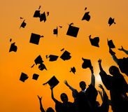 Estudiante Success Learning Concep de la graduación de la educación de la celebración Imágenes de archivo libres de regalías