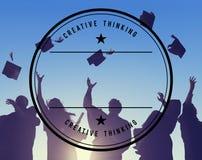 Estudiante Success Learning Concep de la graduación de la educación de la celebración Fotografía de archivo