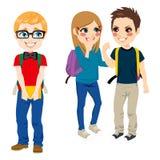 Estudiante Suffering Bullying del empollón stock de ilustración