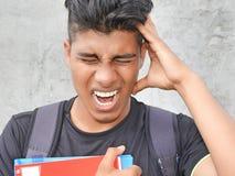 Estudiante Teenager And Anxiety foto de archivo