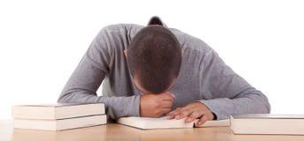 Estudiante tensionado Imagen de archivo libre de regalías