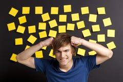 Estudiante tensionado Imágenes de archivo libres de regalías