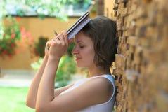 Estudiante trastornado después del fall del examen Fotografía de archivo