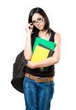 Estudiante trigueno joven de moda. Imágenes de archivo libres de regalías