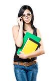 Estudiante trigueno joven de moda. Fotografía de archivo
