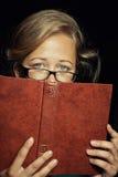 Estudiante triste con el libro Imágenes de archivo libres de regalías