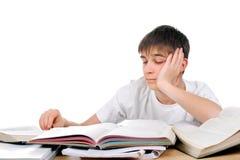 Estudiante triste y aburrido Fotografía de archivo