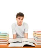 Estudiante triste y cansado Fotos de archivo libres de regalías