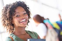 Estudiante universitaria africana Foto de archivo libre de regalías