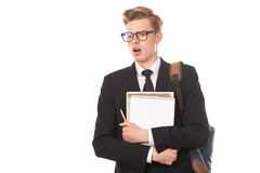 Estudiante universitario adolescente Foto de archivo