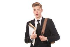 Estudiante universitario adolescente Imagen de archivo libre de regalías