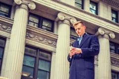Estudiante universitario adolescente americano que viaja en Nueva York Foto de archivo