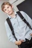 Estudiante universitario adolescente joven hermoso Imagen de archivo