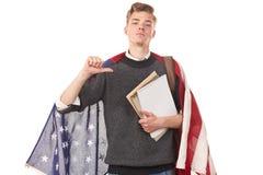 Estudiante universitario americano Imagen de archivo libre de regalías