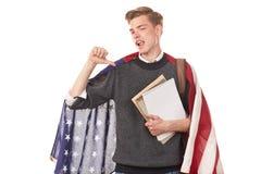 Estudiante universitario americano Fotos de archivo