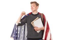 Estudiante universitario americano Imagenes de archivo