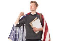 Estudiante universitario americano Fotos de archivo libres de regalías