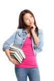 Estudiante universitario asiático hermoso Foto de archivo libre de regalías
