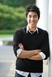 Estudiante universitario asiático Foto de archivo libre de regalías