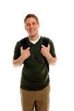Estudiante universitario atractivo con la mochila Fotografía de archivo