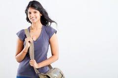 Estudiante universitario con el bolso Fotografía de archivo libre de regalías