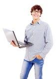 Estudiante universitario con el cuaderno Fotos de archivo