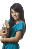 Estudiante universitario con los libros Imagenes de archivo