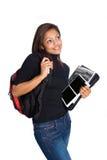 Estudiante universitario de la muchacha, aislado Fotografía de archivo libre de regalías