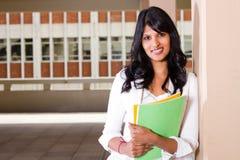 Estudiante universitario de sexo femenino Imagen de archivo libre de regalías