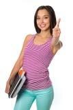Estudiante universitario de sexo femenino feliz Foto de archivo libre de regalías
