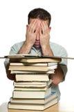 Estudiante universitario deprimido Imagenes de archivo