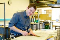 Estudiante universitario Drafting Architecture Imágenes de archivo libres de regalías