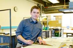Estudiante universitario Drafting Architecture Imagen de archivo