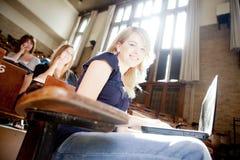 Estudiante universitario en clase Imagen de archivo
