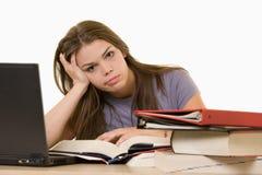 Estudiante universitario frustrado Imagen de archivo libre de regalías