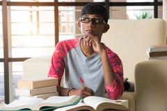 Estudiante universitario indio Imagenes de archivo