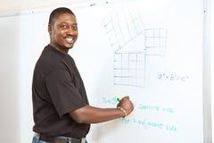 Estudiante universitario - matemáticas avanzada Fotografía de archivo