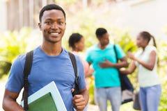 Estudiante universitario negro Imagen de archivo libre de regalías