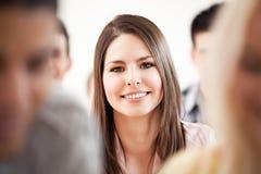 Estudiante universitario sonriente Imagen de archivo libre de regalías