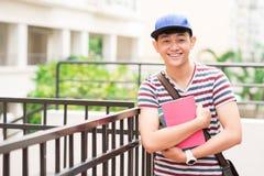 Estudiante vietnamita alegre Imagen de archivo