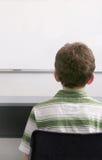 Estudiante y whiteboard Fotografía de archivo libre de regalías